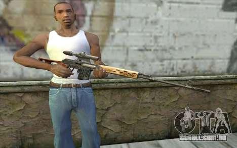 Rifle Sniper Dragunov para GTA San Andreas terceira tela