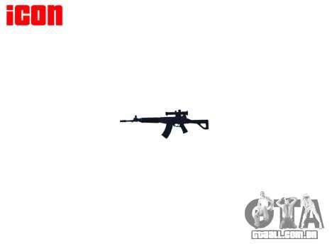 Máquina QBZ-03-1-alvo para GTA 4 por diante tela
