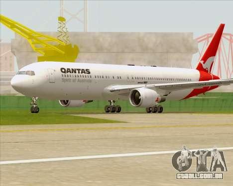 Boeing 767-300ER Qantas (Old Colors) para GTA San Andreas vista superior