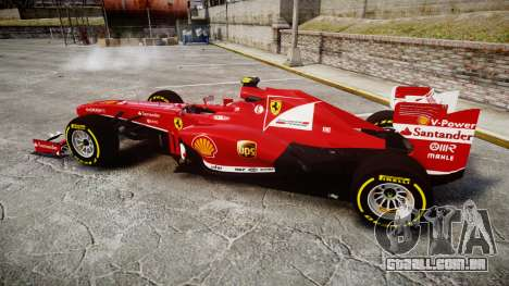 Ferrari F138 v2.0 [RIV] Massa TSD para GTA 4 esquerda vista