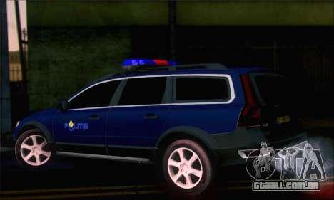 Volvo XC70 K9 Politie para GTA San Andreas esquerda vista