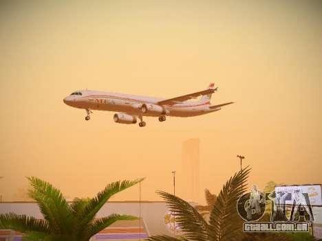 Airbus A321-232 Middle East Airlines para vista lateral GTA San Andreas