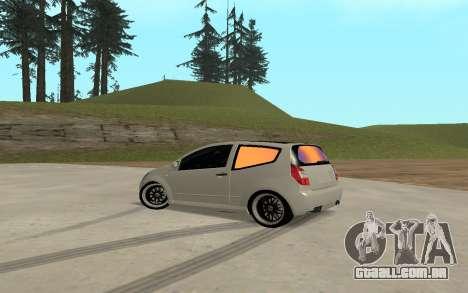 Citroen C2 para GTA San Andreas esquerda vista