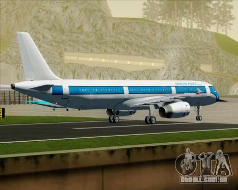 Airbus A321-200 American Pacific Airways para GTA San Andreas vista traseira