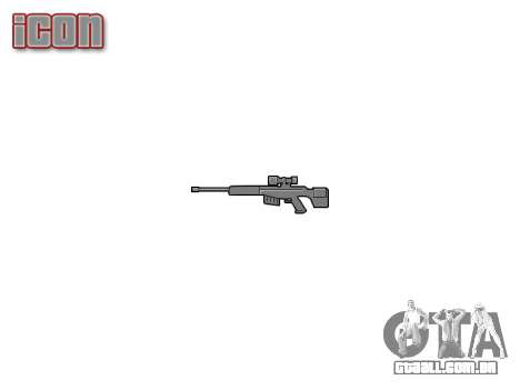 Grande calibre sniper rifle para GTA 4 terceira tela