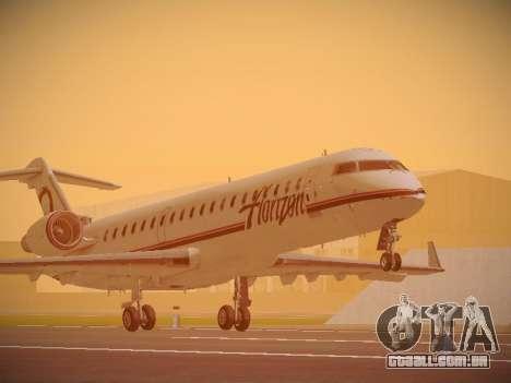 Bombardier CRJ-700 Horizon Air para GTA San Andreas esquerda vista