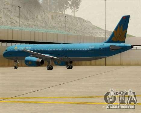 Airbus A321-200 Vietnam Airlines para as rodas de GTA San Andreas