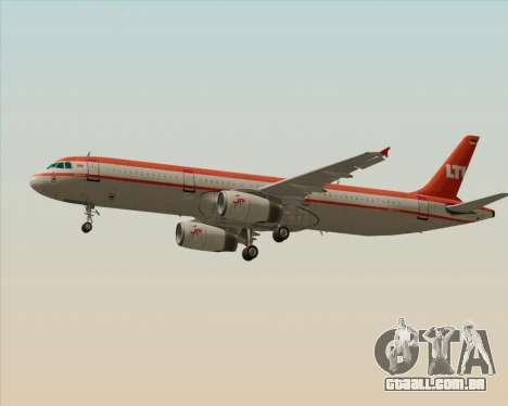 Airbus A321-200 LTU International para GTA San Andreas vista direita