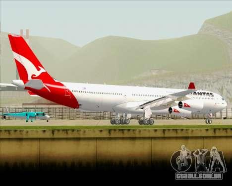 Airbus A340-300 Qantas para GTA San Andreas vista inferior