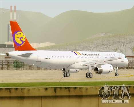 Airbus A321-200 TransAsia Airways para GTA San Andreas vista direita