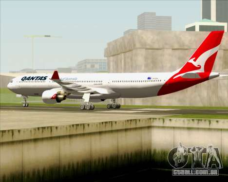 Airbus A330-300 Qantas (New Colors) para GTA San Andreas vista traseira
