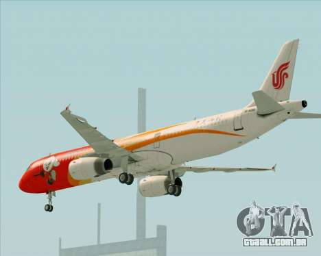 Airbus A321-200 Air China (Beautiful Sichuan) para GTA San Andreas vista superior