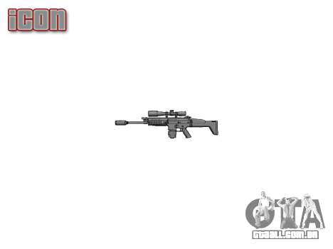 Rifle Mk 17 SCAR-H para GTA 4 terceira tela