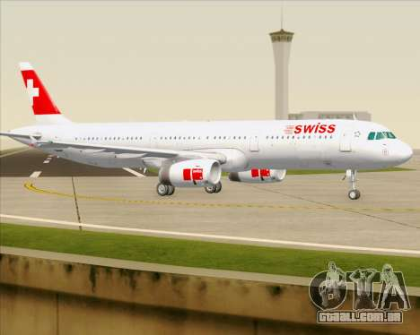 Airbus A321-200 Swiss International Air Lines para GTA San Andreas vista superior