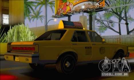 Willard Marbelle Taxi Saints Row Style para GTA San Andreas esquerda vista