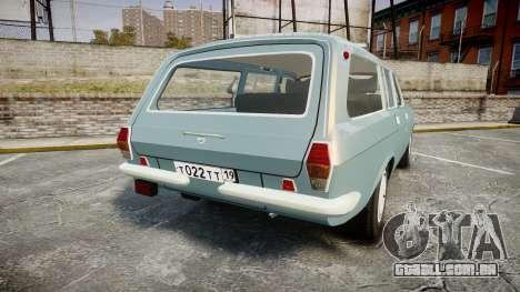 GÁS-24-12 Volga Wh2 para GTA 4 traseira esquerda vista