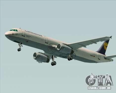 Airbus A321-200 Lufthansa para GTA San Andreas vista direita