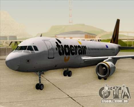 Airbus A320-200 Tigerair Australia para GTA San Andreas vista traseira
