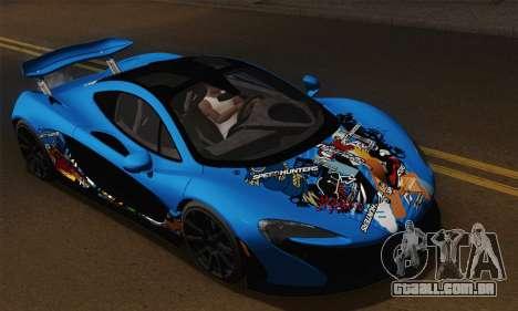 McLaren P1 Black Revel para GTA San Andreas vista traseira