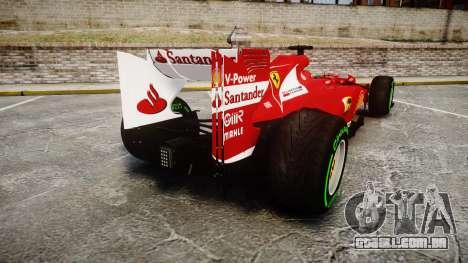 Ferrari F138 v2.0 [RIV] Alonso TIW para GTA 4 traseira esquerda vista