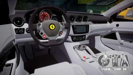 Ferrari FF 2012 Pininfarina Yellow para GTA 4 vista interior