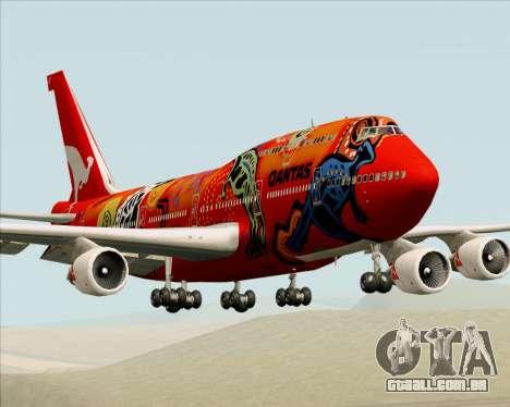 Boeing 747-400ER Qantas (Wunala Dreaming) para GTA San Andreas