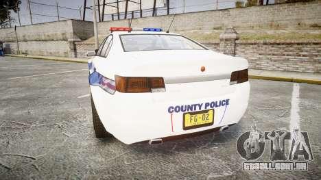 GTA V Cheval Fugitive LS Liberty Police [ELS] para GTA 4 traseira esquerda vista