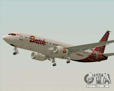 Boeing 737-800 Batik Air para GTA San Andreas vista interior