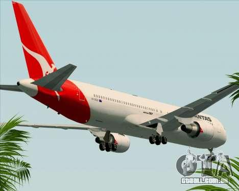 Boeing 767-300ER Qantas (Old Colors) para vista lateral GTA San Andreas