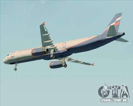 Airbus A321-200 Aeroflot - Russian Airlines para GTA San Andreas vista superior