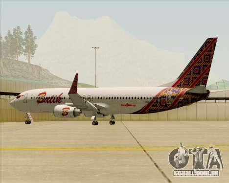 Boeing 737-800 Batik Air para o motor de GTA San Andreas