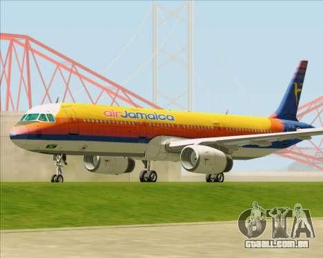 Airbus A321-200 Air Jamaica para GTA San Andreas esquerda vista