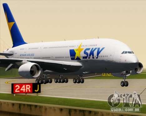 Airbus A380-800 Skymark Airlines para GTA San Andreas vista superior