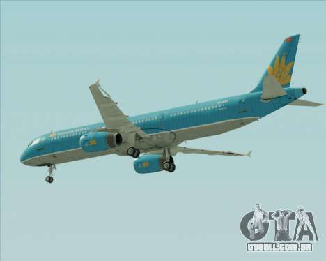 Airbus A321-200 Vietnam Airlines para GTA San Andreas vista inferior