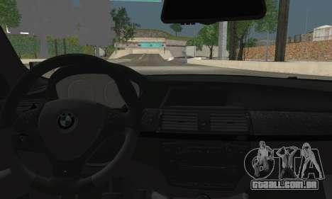 BMW X6M 2013 para GTA San Andreas traseira esquerda vista