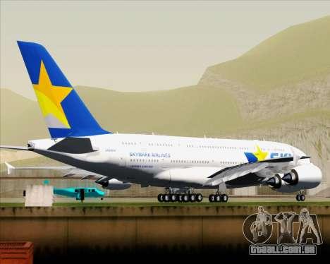 Airbus A380-800 Skymark Airlines para GTA San Andreas vista traseira