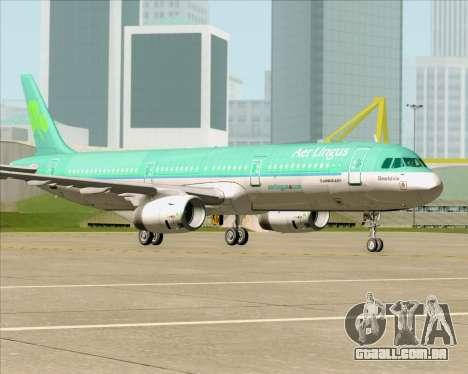 Airbus A321-200 Aer Lingus para GTA San Andreas vista inferior