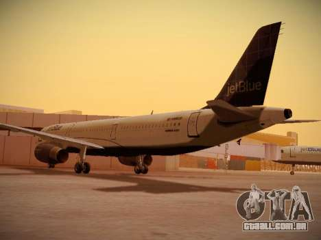 Airbus A321-232 jetBlue Batty Blue para GTA San Andreas vista direita