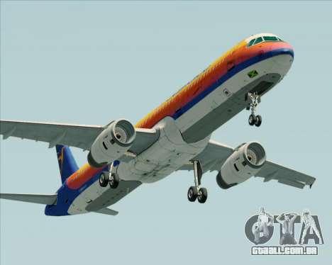Airbus A321-200 Air Jamaica para GTA San Andreas traseira esquerda vista