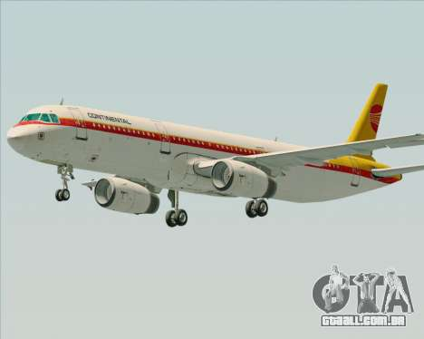 Airbus A321-200 Continental Airlines para GTA San Andreas esquerda vista