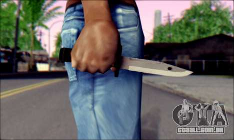 Knife from Death to Spies 3 para GTA San Andreas terceira tela