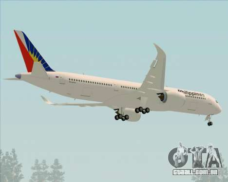 Airbus A350-900 Philippine Airlines para GTA San Andreas vista superior
