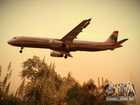 Airbus A321-232 Middle East Airlines para GTA San Andreas interior