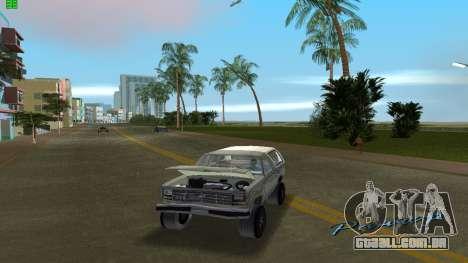 Ford Bronco 1985 para GTA Vice City vista direita