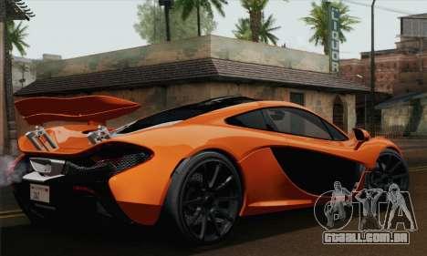 McLaren P1 Black Revel para GTA San Andreas esquerda vista