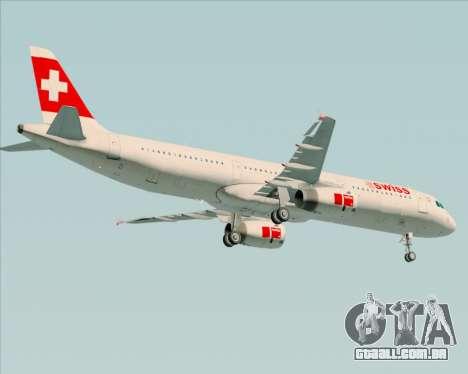 Airbus A321-200 Swiss International Air Lines para GTA San Andreas vista direita