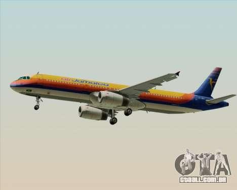 Airbus A321-200 Air Jamaica para GTA San Andreas vista direita