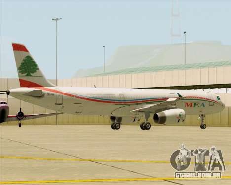 Airbus A321-200 Middle East Airlines (MEA) para GTA San Andreas