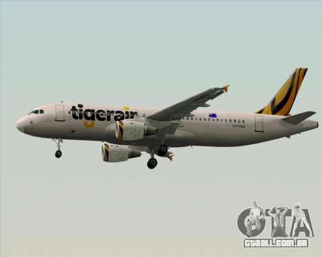 Airbus A320-200 Tigerair Australia para GTA San Andreas vista inferior