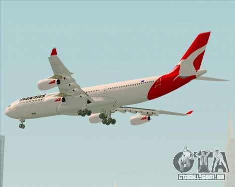 Airbus A340-300 Qantas para GTA San Andreas vista traseira